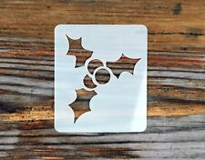 Christmas Holly Small Face Painting Stencil 6cm x 7cm Washable Reusable