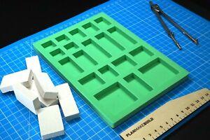 Mold for bricks (04) scale DIY for miniature model,dollhouse, building blocks
