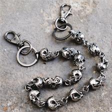 Sexy Gothic Black Metal Wallet Jeans Chains Men Thick Skulls Biker Trucker Chain
