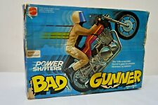 Very RARE Vintage 1978 MATTEL BAD GUNNER MOTORCYCLE POWER SHIFTERS