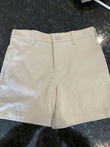 Heartstrings Boys Khaki/ Tan Adjustable Waist Shorts Size 4t Euc