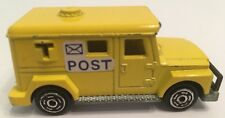 """Majorette 204 Mail Delivery Truck Post Bank Security 3"""" 1:57 Scale Model Yellow"""