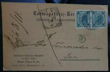 'CARTOLINA TRIESTE 5 HELLER,  BRAUN, PIAZZA & CO. VIAGGIATA PER BARI 31.5.1900