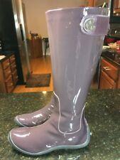 COLE HAAN Women's Patent Leather Dress Knee-High Zipper Boots 6.5 B