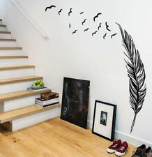 Giant Feather Wall Sticker Wall Chick Decal Art Sticker Quote