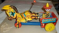 ****VINTAGE 1955 FISHER PRICE BUCKY BURRO PULL TOY****