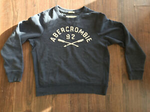 Abercrombie & Fitch Muscle Sweatshirt Blue Extra Large