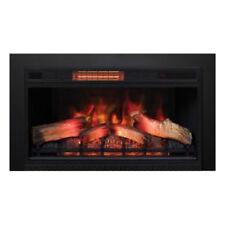 "Classic Flame 33″ 3D Electric Fireplace Insert 33II042FG w/ 43"" x 32"" Black Trim"