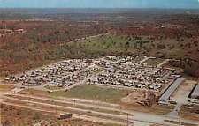Clearwater Kansas aerial view Southern Comfort Mobile Village vintage pc Z12953
