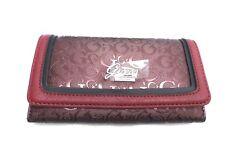 GUESS Wallet Envelop Style *Weldon SLG* Black~Burgundy  w/ G Logo Print Clutch