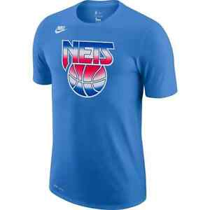 Brand New 2020-2021 NBA Nike Brooklyn Nets Hardwood Classic Edition Logo T-Shirt