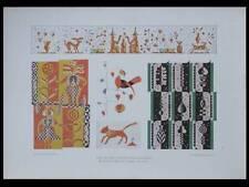 ORNEMENTATIONS ART DECO -1924- LITHOGRAPHIE, FABIAN SCHER, JOUET, BRODERIE
