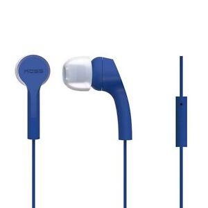 Koss KEB9i Earphones Headphones with Microphone Blue