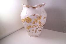 Vintage John Maddock & Sons England Royal Vitreous Vase Yellow Flowers