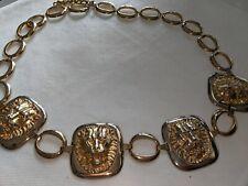 VINTAGE LADIES  GOLDEN METAL BELT SIZE 32' (82cm) --- 35'(90cm) MADE IN SPAIN