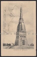 PAVIA PALESTRO 10 MONUMENTO OSSARIO - RISORGIMENTO Cartolina viaggiata 1902