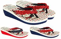 Girls Hello Kitty Toepost Wedges Fun Holiday Summer Sandals Size 10 11 12 13 2