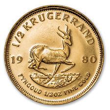 1980 South Africa 1/2 oz Gold Krugerrand - SKU #88135