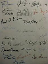 The Godfather Part Ii Signed Film Script X25 Al Pacino Robert Duvall De Niro rpt