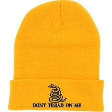 97f01c947f8 YELLOW DONT TREAD ON ME FOLD LONG CUFF BEANIE HAT