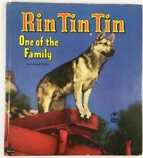 1953 Rin Tin Tin One Of The Family Dog Whitman Book Child's Reading Colorful