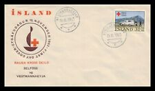 Iceland 1963 FDC, Centenary of the Red Cross. Lot # 13.