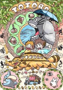 A3 Studio Ghibli My Neighbour Totoro Art Poster Print SGM01 BUY 2 GET 3RD FREE