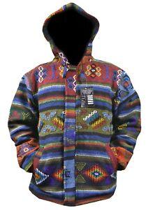 Handmade Aztec Bhutani themed fleecelined  Winter/summer unisex cotton Jacket.