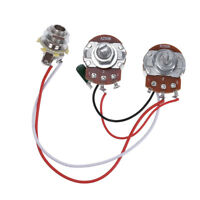 Wiring Harness Prewired Kit for Precision Bass Guitar 250K Pots 1 V 1 T Jack
