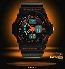 Skmei Imported Casual Analog & Digital PU Quartz Watch ORANGE