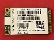 Dell GV33N 7.2 Mbps HSDPA WWAN Broadband Card T77Z102.14 LF 10-VR660-2