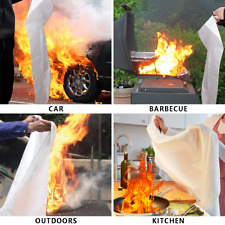 Emergency Fire Blanket Quick Release For Home Garden Bbq Car 3.3Ft 3.9Ft 4.9Ft