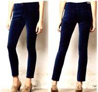 Pilcro and the Letterpress Womens Blue Velvet Skinny Jeans Size 26