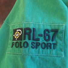 XL Vintage Ralph Lauren Polo Sport Button Up Shirt Green