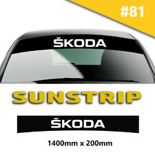 Skoda Sunstrip Car Stickers Decal Graphics Windscreen Stripes