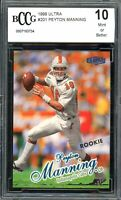 1998 Ultra #201 Peyton Manning Rookie Card BGS BCCG 10 Mint+