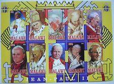 ** Pope John Paul II  - miniature sheet 10 val. Malawi  2012 mint MNH  #180
