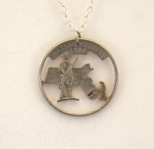 Massachusetts, Cut-Out Coin Jewelry, Necklace/Pendant