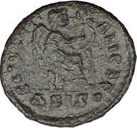 AELIA FLACILLA 379AD Ancient Rare Roman Coin VICTORY CHI-RHO Christ monog i32818