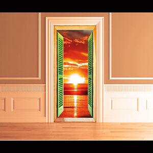 wall stikers tramonto-tromp l'oeil-per porte e muri-arredo pizzeria hotel