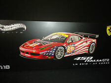 Hot Wheels Elite Ferrari 458 Italia GT2 LeMans #61 1/18 Limited Edition BCT78