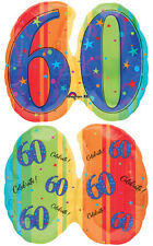 A Year to Celebrate - 60 60th Birthday Party SuperShape Shaped Mylar Balloon