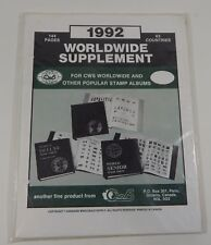 Canadian Wholesale Supply World Wide 1992 Supplement Stamp Album Pages