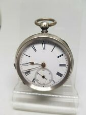 Antique  solid silver gents pocket watch working c1900