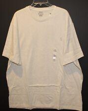 Polo Ralph Lauren Big and Tall Mens Light Gray Crewneck T-Shirt NWT $49 Size 2XB