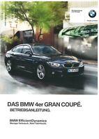 2015 BMW 4ER GRAN COUPE F36 BETRIEBSANLEITUNG BORDBUCH BEDIENUNGSANLEITUNG BA#