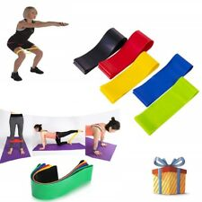 5PK Resistance Bands Fitness Exercise Stretch Bands Yoga Belt Circle Workout Tra