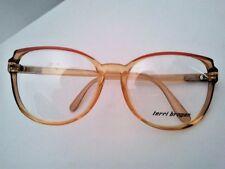 Terry Brogan occhiale da vista, vintage datata 1988 celluloide Marrone rotondo