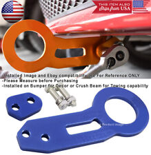 Aluminum Anodized Billet Blue Rear Bumper Tow Hook Towing For Ford Chevy Dodge