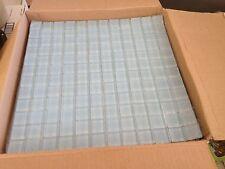 1x1 Glass Tile Mosaic Kitchen Bath Wall: Light Blue  - full sheet 12x12